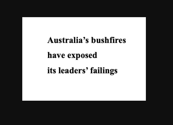 Crisis communication and leadership – teachable moments from the Australian bushfires