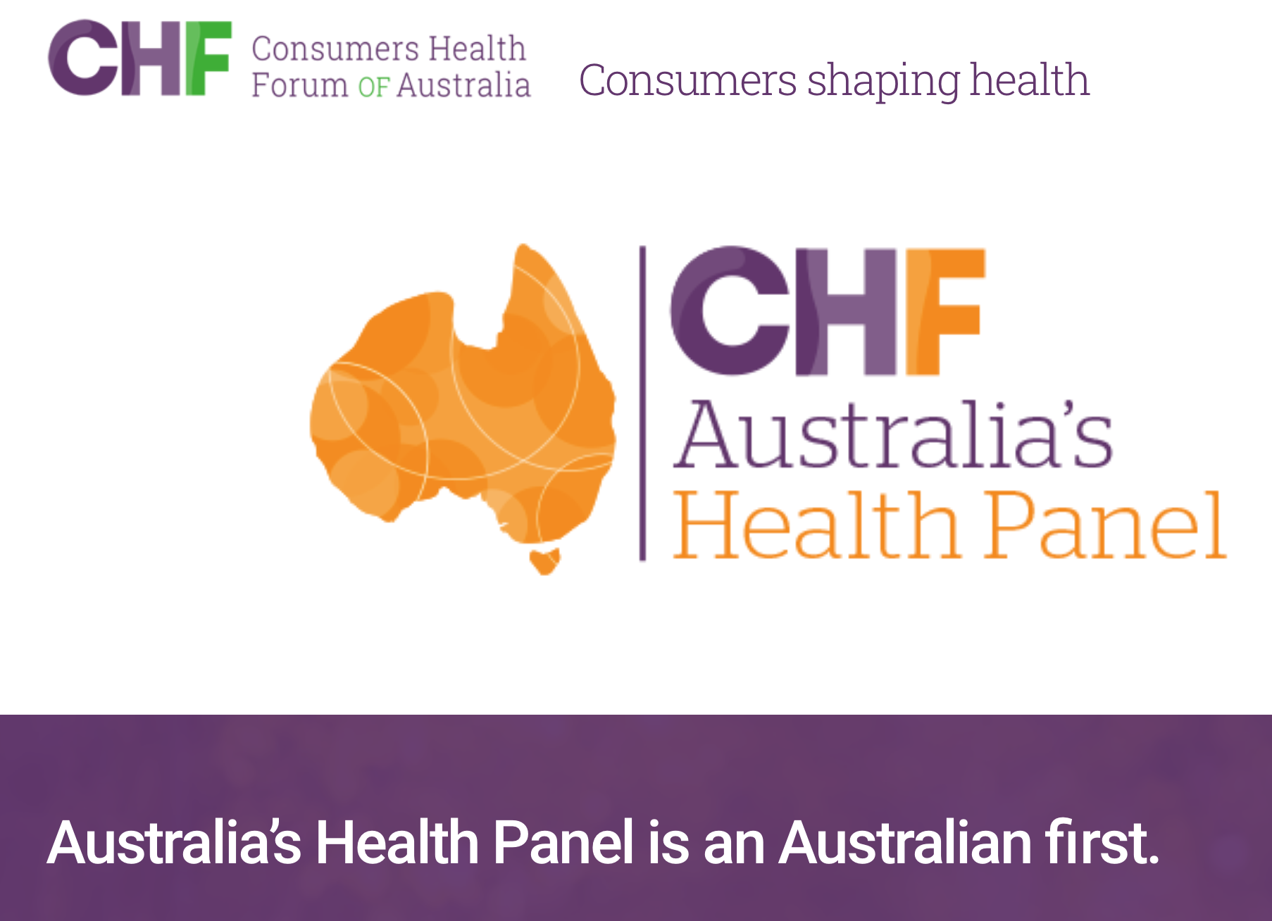Sign up to Australia's Health Panel and help shape a healthier future