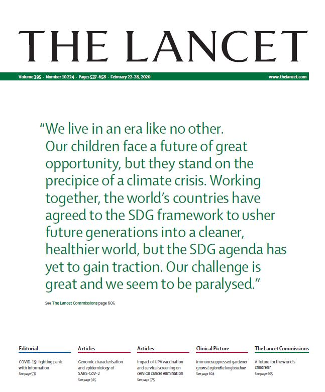 'Our children face a future of great opportunity but they stand on the precipice of a climate crisis' - Lancet commission urges action on ecological and commercial pressures for future generations