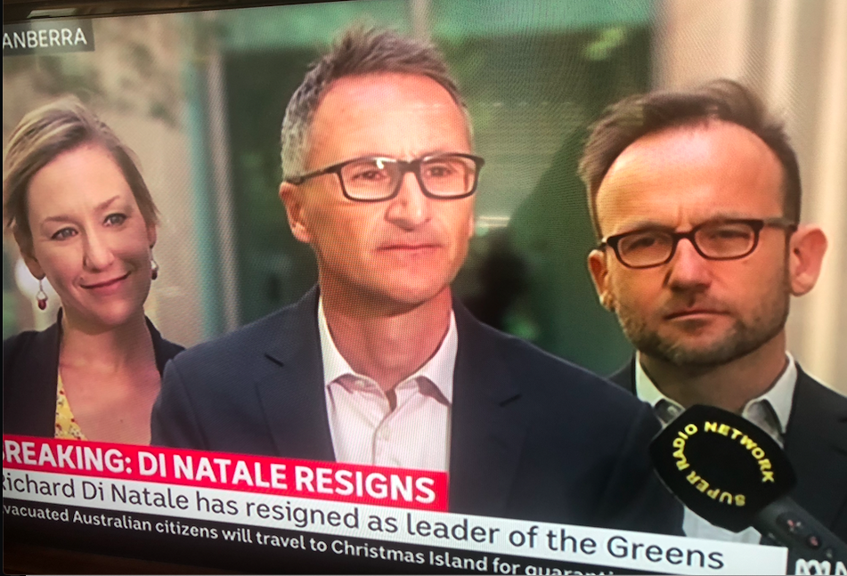 Public health tributes paid as Greens Leader Richard Di Natale stands down
